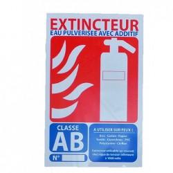 Signalisation extincteur eau pulverisée avec additif