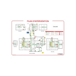 Plan d'intervention sans cadre format A3