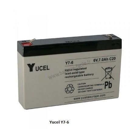 Batterie YUASA gel 6V 7Ah