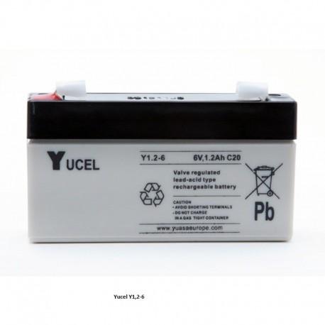 Batterie YUASA gel 6V 1,2Ah